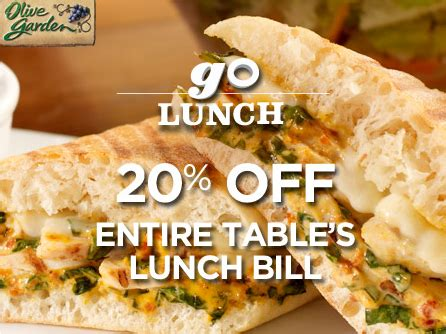 Olive Garden Lunch Coupons by Olive Garden Coupons 20 Lunch Save 5 On Dinner