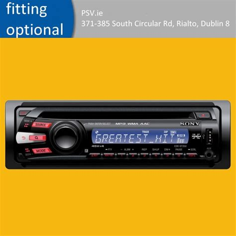 How To Add Usb Port To Car Stereo by Car Stereo With Usb Port Sony Cdx Gt35u Mp3 Cd