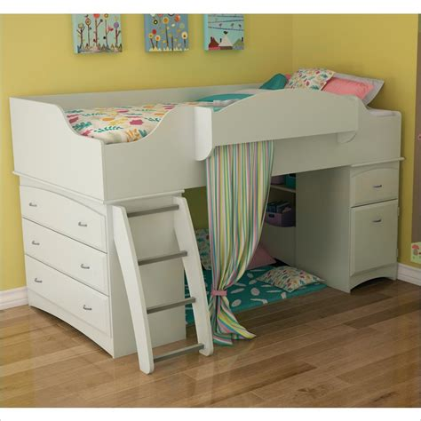 south shore loft bed south shore imagine loft bed in pure white 3560a3