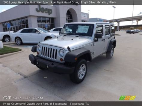 Jeep Right Drive Bright Silver Metallic 2012 Jeep Wrangler Unlimited