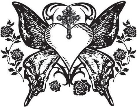 gothic heart tattoo designs images designs