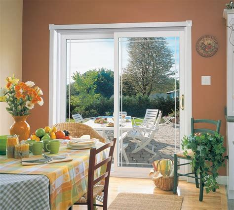 Provia Patio Doors Provia S Aspect Vinyl Sliding Glass Patio Doors Are Available In White Beige And Sandstone With