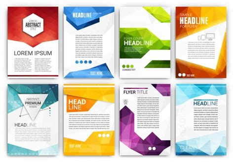 leaflet design ai brochure templates collection vector free download