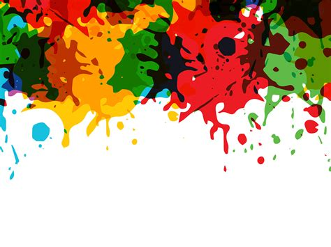 artistic splashes ppt backgrounds 3d design templates