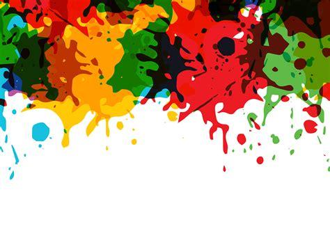 Artistic Splashes Ppt Backgrounds 3d Design Templates