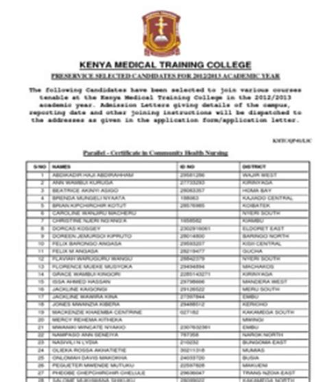 Credit Application Form Kenya Application Form Application Form Kmtc