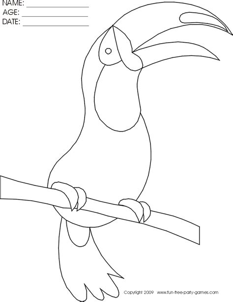 free toucan sam coloring pages