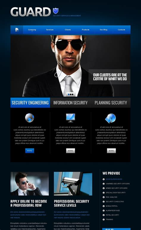 security company brochure template security moto cms html template 41439