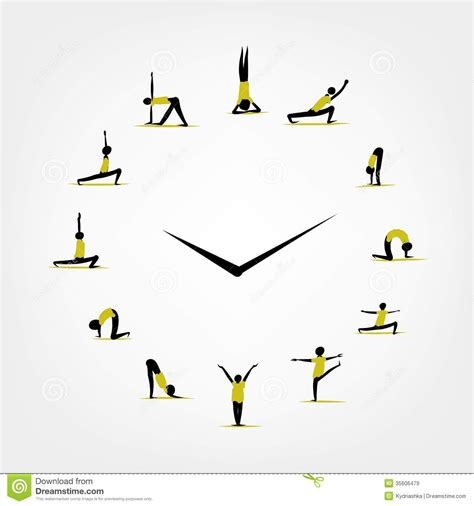 concept your design yoga time watch concept for your design royalty free