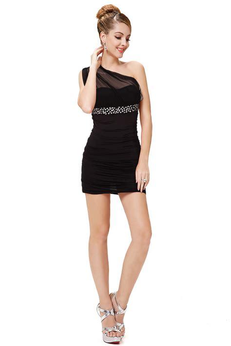 D3908 Mini Dress C O L Z A Size M Original Branded Import Murah black one shoulder pleated club mini dress n11161