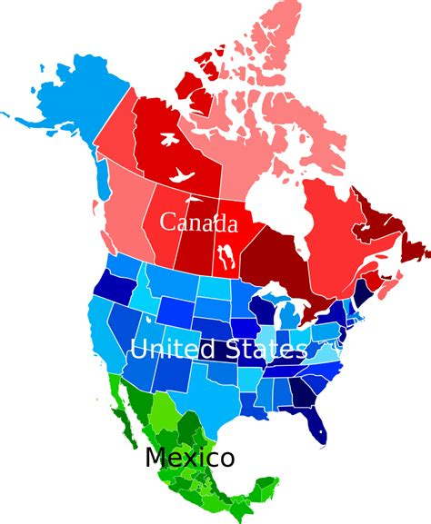map of usa showing states and canada file america map coloured svg wikimedia commons