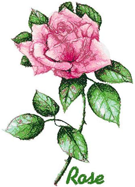 embroidery design rose flower advanced embroidery designs garden flower series rose