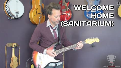 how to play welcome home sanitarium metallica guitar