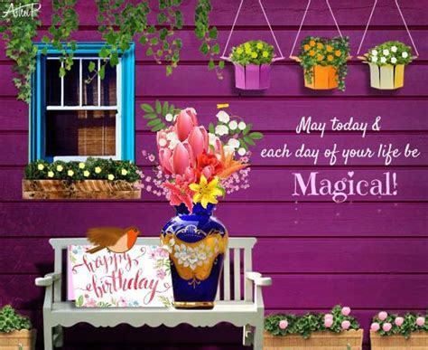 Magical Birthday Wishes & Flowers! Free Happy Birthday