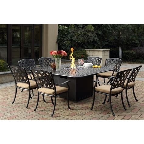 darlee view 9 patio dining set in antique