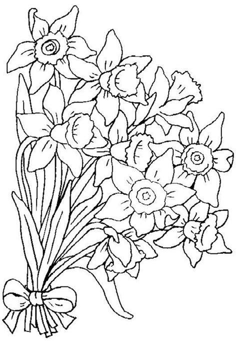 mazzi di fiori da colorare disegni da colorare mazzo di fiori stabile gratuito