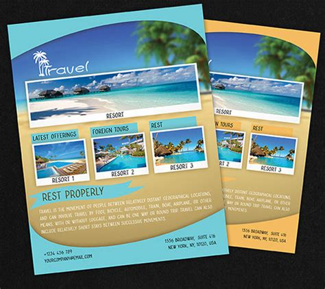 free travel flyer templates travel flyer template 43 free psd ai vector eps