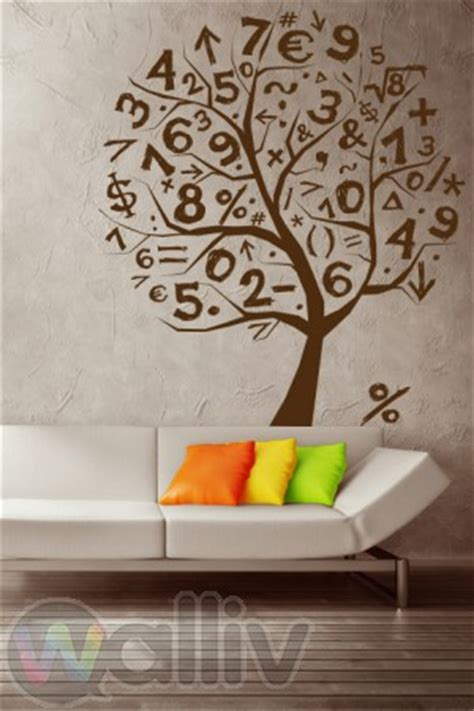 math tree wall sticker decal