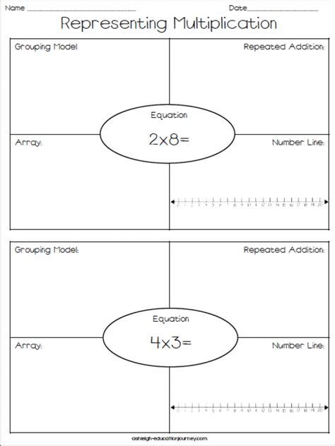 diagram repeated addition free representing multiplication worksheet repeated