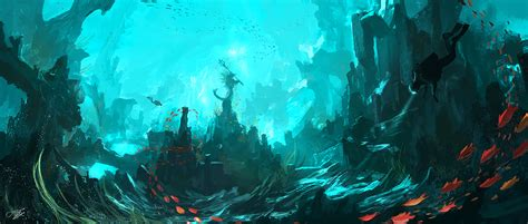 Ghost Of Atlantic Jungle Resort underwater temple by tnounsy on deviantart
