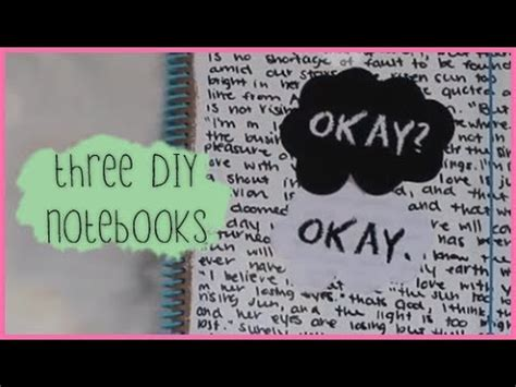 tumblr rooms diy book covers 3 diy notebook covers tfios chalkboard studded