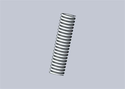 3d spring models compression spring solidworks 3d cad model grabcad