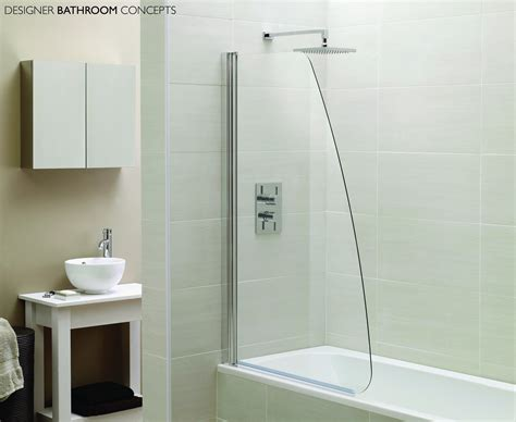 shower screens for bath designer sail glass bath shower screens ap9578s