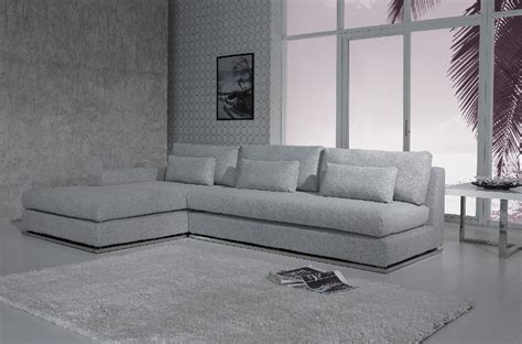 Modern Fabric Sofa Ashfield Modern Light Grey Fabric Sectional Sofa