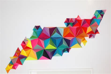 Origami 3d Triangle - 3d geometric wall sculpture sm make