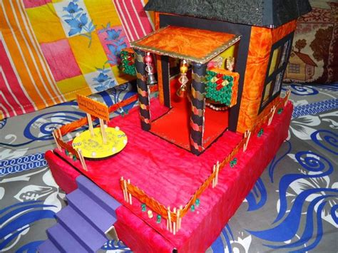 How To Make A Temple Out Of Paper - decorative temple model project
