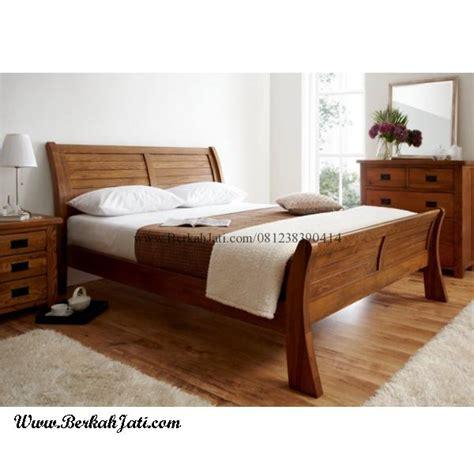Tempat Tidur Kayu Jati Bekasi model tempat tidur minimalis kayu jati berkah jati