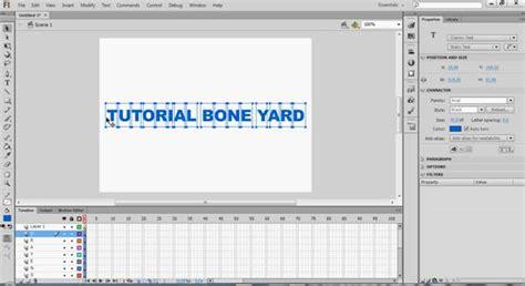 flash tutorial text text animation in flash tutorial bone yard