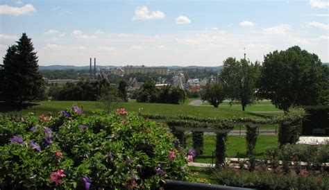 hershey pa hershey park from the gardens photo picture