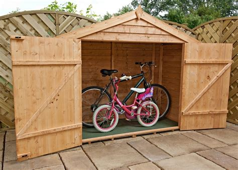 Timber Bike Sheds by Mercia Overlap Bike Store Timber Storage Shed Garden