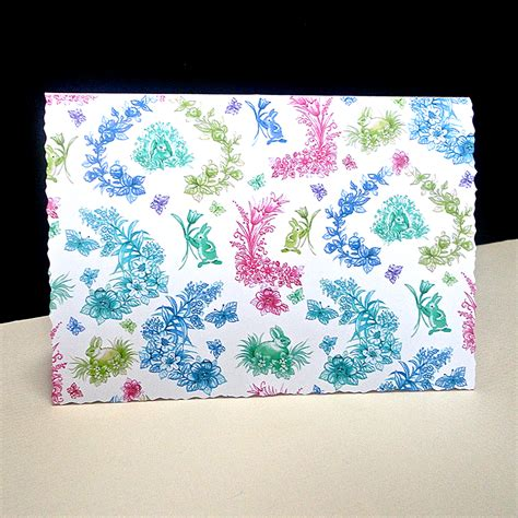 Handmade Easter Cards For - easter rabbit toile card decorque cards