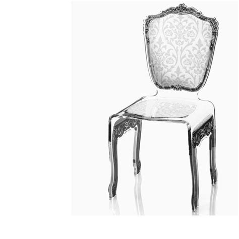 chaise plexi transparente chaise transparente en plexi baroque