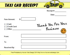 nyc taxi receipt template cab