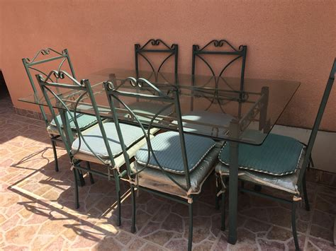 Wrought Iron Dining Chairs For Sale For Sale Wrought Iron Dining Table With Six Chairs Buy And Sell Items In Playa Flamenca