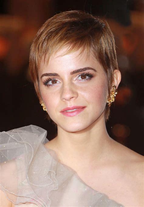 emma watson soft pixie hair cut  wispy bangs women