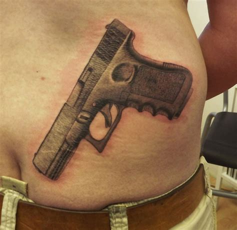 gun tattoo on hand glock tattoos only from glock guns