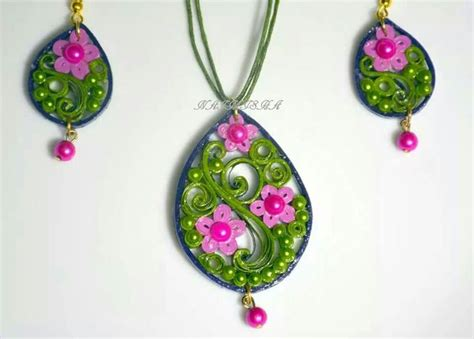 Jewellery With Quilling Paper - paper quilled jewellery quilled jewelry