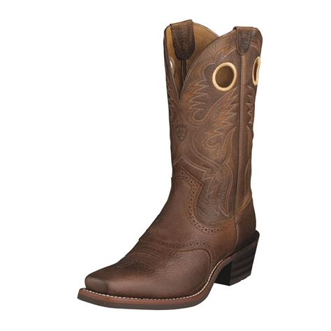 toe cowboy boots for ariat heritage roughstock square toe cowboy boots