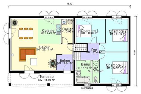 plan maison demi niveau 4 chambres plan de niveau