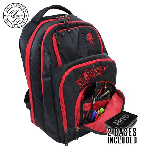 tattoo equipment backpack sullen blaq paq onyx redline tattoo travel bag