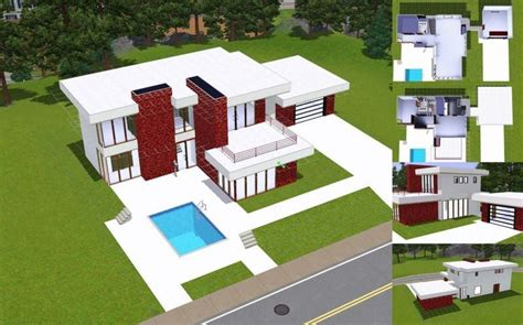 floor plans sims 3 unique sims 3 modern house floor plans new home plans design