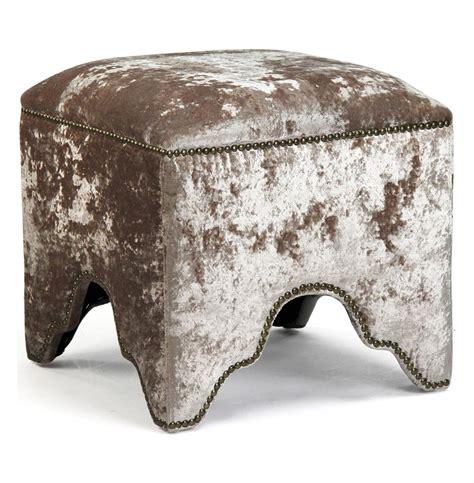 foot stool ottoman modern mink velvet nail head trim ottoman foot stool