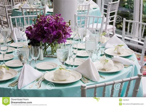 wedding dinner table setting table set for a wedding reception stock image image 7424941