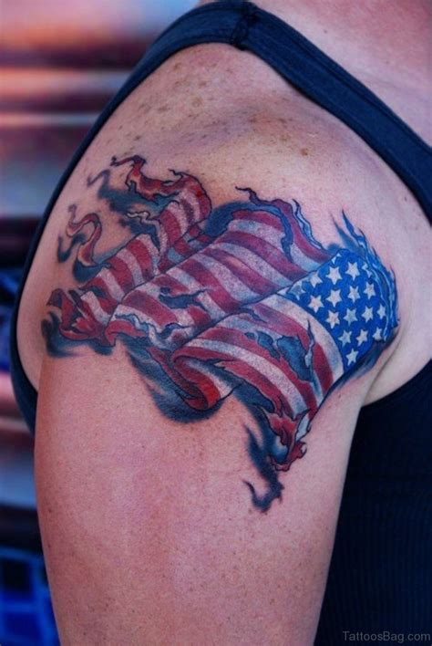 american flag shoulder tattoos 53 top flag tattoos on shoulder
