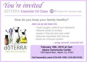 doterra essential oils class invitation pictures to pin on