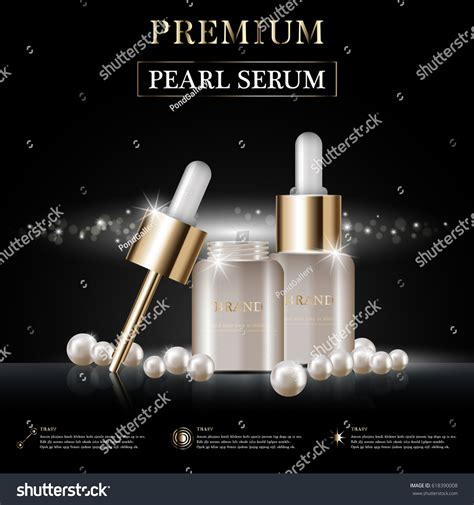 Bvr Shining Gold Serum hydrating serum annual sale festival stock vector 618390008